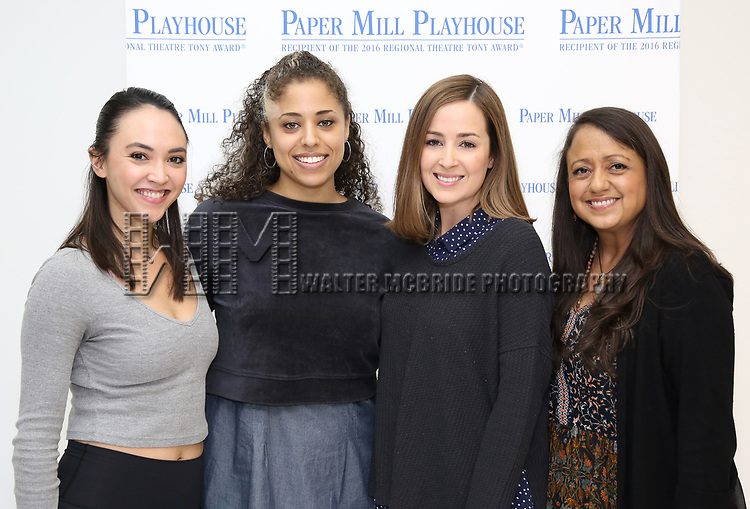 "Belinda Allyn, Tatiana Wechsler, Hannah Elless and Natalie Toro during the meet the cast photo call for the Paper Mill Playhouse production of  ""Benny & Joon"" at Baza Dance Studios on 3/21/2019 in New York City."