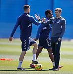 17.05.2019 Rangers training: Steven Gerrard and Borna Barisic