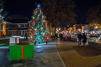 Christmas tree lighting ceremony in front of the Westerville CityHall.