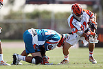 Philadelphia Barrage vs Los Angeles Riptide.Home Depot Center, Carson California.Anthony Kelly (#34) and Jason Motta (#21).506P8504.JPG.CREDIT: Dirk Dewachter