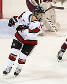 Tori Hickel (NU - 55) - The Northeastern University Huskies defeated Boston College Eagles 4-3 to repeat as Beanpot champions on Tuesday, February 12, 2013, at Matthews Arena in Boston, Massachusetts.