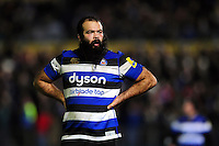 Kane Palma-Newport of Bath Rugby looks on during a break in play. Aviva Premiership match, between Bath Rugby and Bristol Rugby on November 18, 2016 at the Recreation Ground in Bath, England. Photo by: Patrick Khachfe / Onside Images
