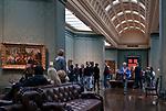 Londyn 2009-10-24. Galeria Narodowa, czołowe muzeum sztuki i jedna z najbogatszych na świecie kolekcji malarstwa europejskiego. Fragment ekspozycji.
