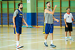 Players Sergio Llull (l) and Joan Sastre during the second season of training of Spanish National Team of Basketball 2019 . July 27, 2019. (ALTERPHOTOS/Francis González)
