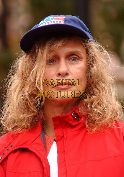 "LAUREN HUTTON.visits Market Square downtown for a ""Get Out The Vote"" Rally urging everyone to vote on November 2nd.October 29, 2004.headshot, portrait, baseball cap, hat.www.capitalpictures.com.sales@capitalpictures.com.©Jason Nelson/AdMedia/Capital Pictures."