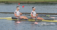 Henley on Thames. United Kingdom.  Heat of the Double Sculls Challege Cup. , left,  Nick MIDDLETON and Jack BEAUMONT.     Friday,  01/07/2016,      2016 Henley Royal Regatta, Henley Reach.   [Mandatory Credit Peter Spurrier/ Intersport Images]