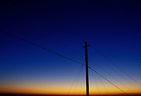 AJ1754, sunset, power lines, Georgia, Silhouette of power lines at [sunset, sunrise] from the summit of Stone Mountain.