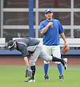 Ichiro Suzuki (Yankees), Daisuke Matsuzaka (Mets),<br /> MAY 15, 2014 - MLB :<br /> Ichiro Suzuki of the New York Yankees and Daisuke Matsuzaka of the New York Mets during practice before the Major League Baseball game at Citi Field in Flushing, New York, United States. (Photo by AFLO)