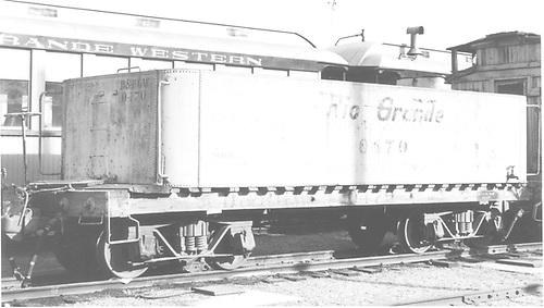 End side view of water car #0470 (ex Unitah) at Durango.<br /> D&amp;RGW  Durango, CO