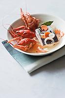Nage d'écrevisses et Caviar d'Aquitaine  - recette de Christian Constant EXCLU: EDITION LIVRE CUISINE DU SUD-OUEST