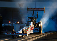 Sep 15, 2017; Concord, NC, USA; NHRA top fuel driver Steve Torrence during qualifying for the Carolina Nationals at zMax Dragway. Mandatory Credit: Mark J. Rebilas-USA TODAY Sports