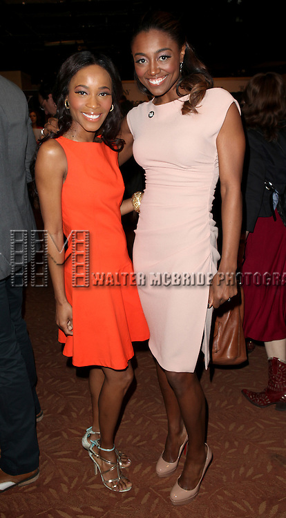 Valisia Le Kae & Patina Miller attending the 2013 Tony Awards Meet The Nominees Junket  at the Millennium Broadway Hotel in New York on 5/1/2013...