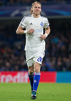 Domagoj Vida of Dynamo Kiev (Dynamo Kyiv) during the UEFA Champions League Group G match between Chelsea and Dynamo Kyiv at Stamford Bridge, London, England on 4 November 2015. Photo by Andy Rowland.