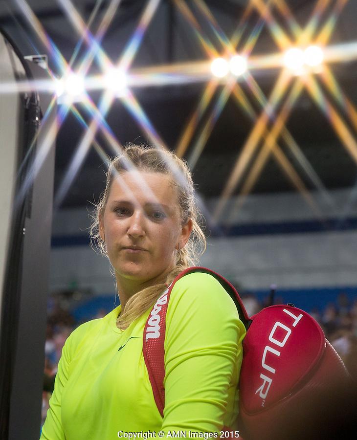 Victoria Azarenka (BLR)<br /> <br /> Tennis - Australian Open 2015 - Grand Slam -  Melbourne Park - Melbourne - Victoria - Australia  - 22 January 2015. <br /> &copy; AMN IMAGES