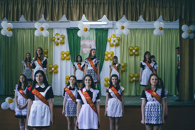Last bell performance at school N9 in Ribnita, Transnistria