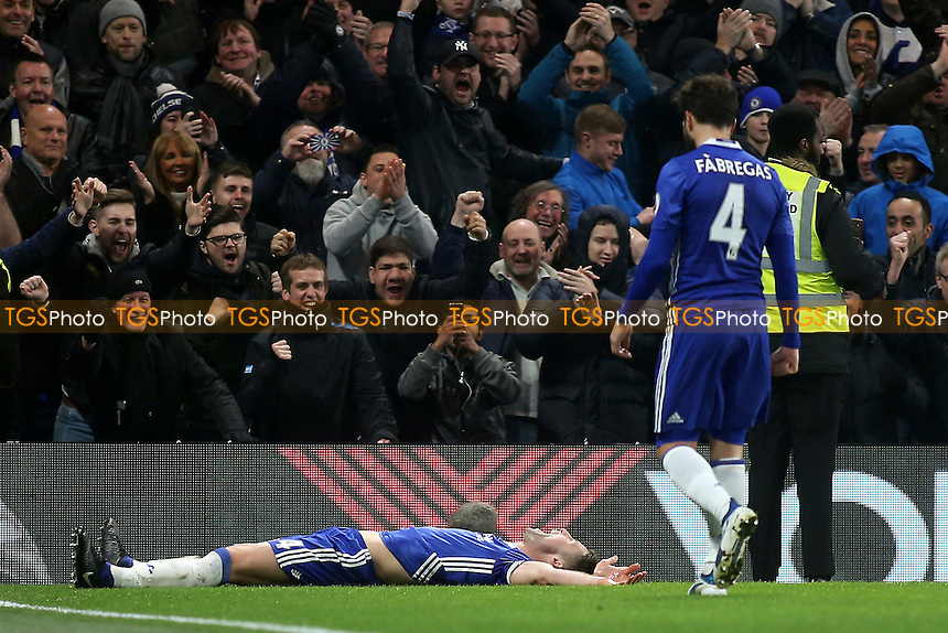 Gary Cahill celebrates scoring Chelsea's second goal during Chelsea vs Hull City, Premier League Football at Stamford Bridge on 22nd January 2017