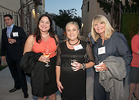 Karen Maarse Fitzgerald, softball coach Alison Haehnel and Maggie Schwanke. Alumni, family, staff and students at the Occidental College Athletics Hall of Fame event, part of Homecoming weekend, Oct. 24, 2014 on Patterson Field. (Photo by Marc Campos, Occidental College Photographer)