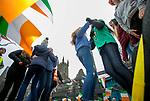 170318<br /> Kellys dancers on Abbey street during St Patricks Day parade in Ennis.Pic Arthur Ellis.