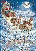 Interlitho, CHRISTMAS SANTA, SNOWMAN, paintings+++++,santa,reindeers,sleight,KL5992,#x# Weihnachten, nostalgisch, Navidad, nostálgico, illustrations, pinturas