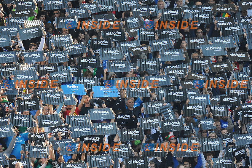 tifosi.17/11/2012 Roma, Stadio Olimpico..Rugby Cariparma Test Match 2012.Italia vs Nuova Zelanda.Italy vs All Blacks.Photo Antonietta Baldassarre Insidefoto