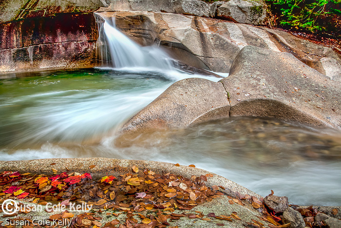 The Basin in Franconia Notch State Park, NH, USA