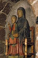 Europe/France/Auvergne/15/Cantal/Massiac: Eglise - Détail vierge en majesté XIIIème siècle