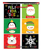 Dreams, CHRISTMAS ANIMALS, WEIHNACHTEN TIERE, NAVIDAD ANIMALES, paintings+++++,MEDAGBX43/2,#XA# ,sticker,stickers