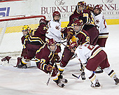 Derek MacIntyre, Corey Couturier, Matt Frank, Brock Bradford, Ferris ?, Adam Welch, Eric Vesely, Benn Ferreiro, Joe Rooney - The Boston College Eagles and Ferris State Bulldogs tied at 3 in the opening game of the Denver Cup on Friday, December 30, 2005, at Magness Arena in Denver, Colorado.  Boston College won the shootout to determine which team would advance to the Final.