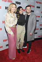NEW YORK, NEW YORK - JANUARY 09: Edie Falco, Jamie-Lynn Sigler and Robert Iler  attends the 'The Sopranos' 20th Anniversary Panel Discussion at SVA Theater on January 09, 2019 in New York City. <br /> CAP/MPI/JP<br /> ©JP/MPI/Capital Pictures