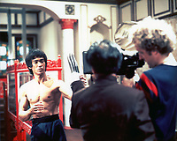 Enter the Dragon (1973) <br /> Behind the scenes photo of Bruce Lee<br /> *Filmstill - Editorial Use Only*<br /> CAP/MFS<br /> Image supplied by Capital Pictures