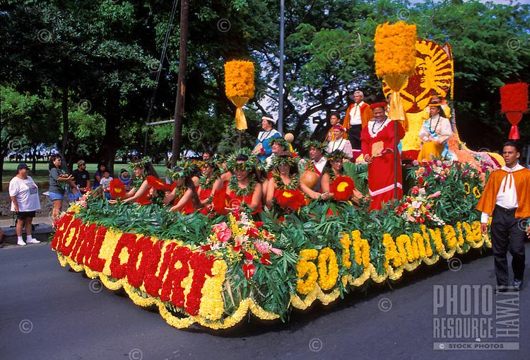 Royal Court float, Aloha Festivals Parade, Honolulu