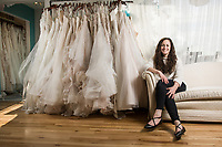 '09 Finance Alum Tara Gondek, owner of Bateau Bridal Boutique.