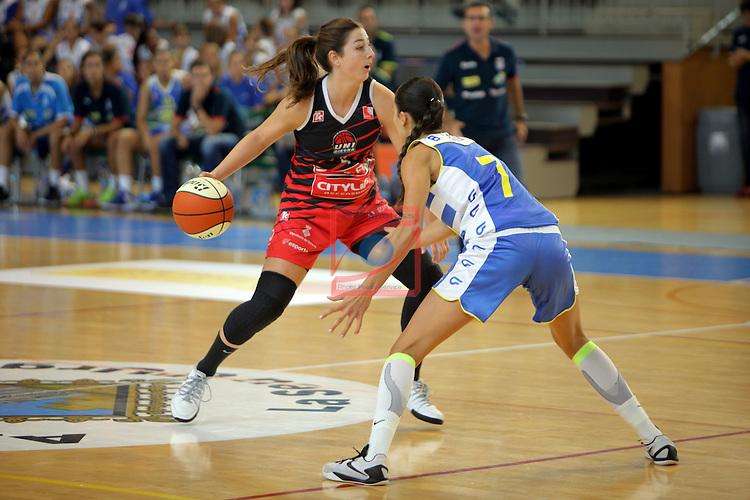 XXVIII Lliga Catalana Femenina 2016.<br /> Cadi La Seu vs Spar Citylift Girona: 71-57.<br /> Leonor Rodriguez vs Belen Arrojo.