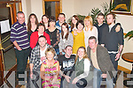 BIRTHDAY: Steven Moran, Ballyvalley, Tralee (seated centre) enjoying a night out for his 35th birthday last Saturday night in the Kerin's O'Rahilly's GAA clubhouse, Strand Rd, Tralee with his wife Mary and staff from Petmania, Manor shopping centre.