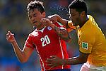 Charles Aranguiz (CHI), Hulk (BRA),<br /> JUNE 28, 2014 - Football / Soccer :<br /> FIFA World Cup Brazil 2014 Round of 16 match between Brazil 1(3-2)1 Chile at Estadio Mineirao in Belo Horizonte, Brazil. (Photo by D.Nakashima/AFLO)
