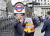 Tube Strike <br /> outside Bank Station London, Great Britain <br /> 6th August 2015 <br /> <br /> <br /> Photograph by Elliott Franks <br /> Image licensed to Elliott Franks Photography Services
