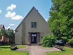 Budynek muzeum w którym mieści się ekspozycja etnograficzna przedstawiająca historię, kulturę i tradycje Karaimów na Litwie i w Trokach.