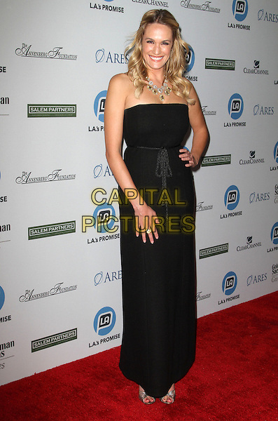Ashlan Gorse.LA's Promise Honors Ryan Seacrest At 2011 Gala Held at A the Kodak Theatre, Hollywood, California, USA..27 September 2011.full length dress black strapless hand on hip.CAP/ADM/KB.©Kevan Brooks/AdMedia/Capital Pictures.