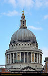 St. Paul's Cathedral Dome from the South, Ludgate Hill, London, England, UK
