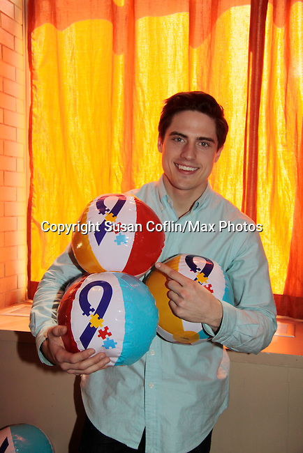 Daniel Covin - OLTL - Hunter - 11th Annual Daytime Stars & Strikes Event for Autism - 2015 on April 19, 2015 hosted by Guiding Light's Jerry ver Dorn (& OLTL) and Liz Keifer at Bowlmor Lanes Times Square, New York City, New York. (Photos by Sue Coflin/Max Photos)