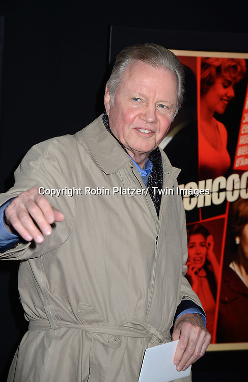 "Jon Voight attends the New York Premiere of ""Hitchcock"" on November 18, 2012 at the Ziegfeld Theatre in New York City. The movie stars Anthony Hopkins, Helen Mirren,.Scarlett Johansson, Jessica Biel, Toni Collette, Danny Huston, Michael Stuhlbarg and James D'Arcy."