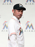 Ichiro Suzuki (Marlins), JANUARY 29, 2015 - MLB : Miami Marlins newly signed outfielder Ichiro Suzuki attends an introductory news conference at the Capitol Hotel Tokyu in Tokyo, Japan. (Photo by Motoo Naka/AFLO)