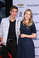 "Austin North, Lauren North<br /> at the ""Captain America: The Winter Soldier"" Los Angeles Premiere, El Capitan, Hollywood, CA 03-13-14<br /> David Edwards/DailyCeleb.com 818-249-4998"