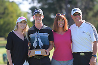 2020 Super 6s championship Daniel Hillier with his family. Final day of the Jennian Homes Charles Tour / Brian Green Property Group New Zealand Super 6s at Manawatu Golf Club in Palmerston North, New Zealand on Sunday, 8 March 2020. Photo: Dave Lintott / lintottphoto.co.nz