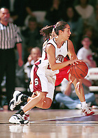 STANFORD, CA - NOVEMBER 1: Milena Flores of the Stanford Cardinal during an exhibition game against the USA Team on November 1, 1999 at Maples Pavilion in Stanford, California.
