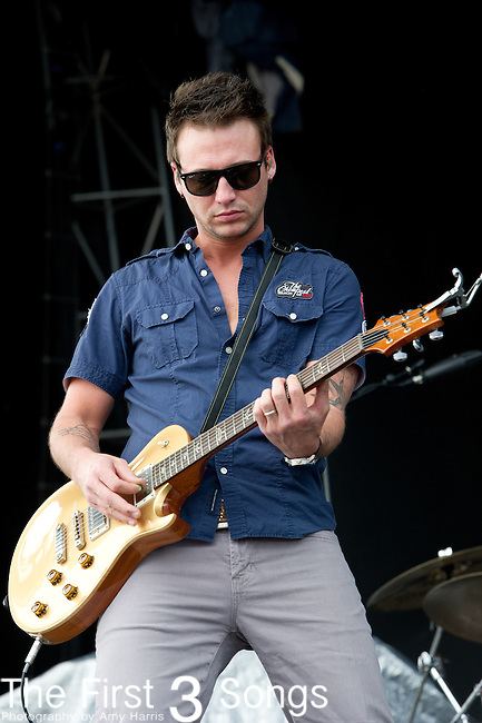 Eric Gunderson of Love and Theft performs at the ACM Party for a Cause Festival during The ACM Experience at The Orleans Hotel & Casino on April 6, 2013.