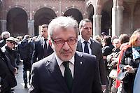Milano: Roberto Maroni partecipa ai funerali di Enzo Jannacci