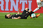 14.04.2018, BayArena, Leverkusen , GER, 1.FBL., Bayer 04 Leverkusen vs. Eintracht Frankfurt<br /> im Bild / picture shows: <br /> Kevin Volland (Leverkusen #31), verletzt am Boden <br /> <br /> <br /> Foto &copy; nordphoto / Meuter