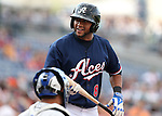 Reno Aces' Andy Marte bats against the Omaha Storm Chasers, in Reno, Nev., on Sunday, Aug. 24, 2014.<br /> Photo by Cathleen Allison