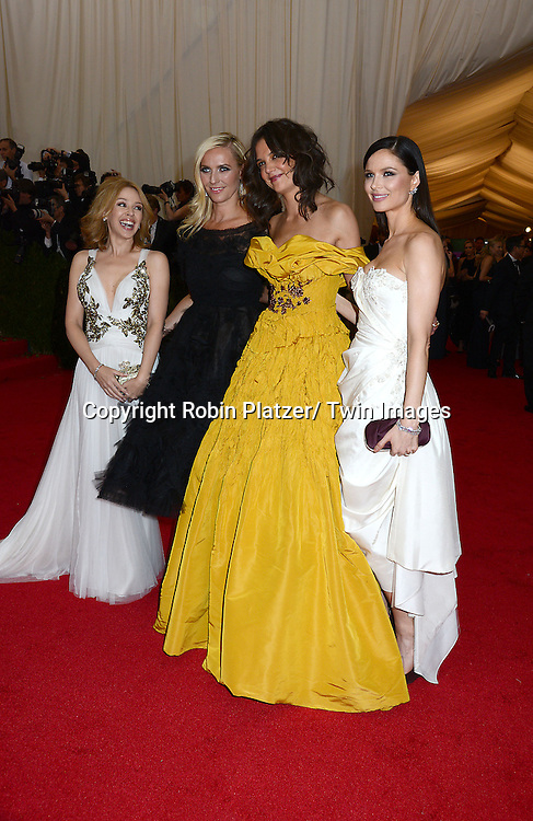 Kylie Minogue, Karen Craig,Katie Holmes and Georgina Chapman attends the Costume Institute Benefit on May 5, 2014 at the Metropolitan Museum of Art in New York City, NY, USA. The gala celebrated the opening of Charles James: Beyond Fashion and the new Anna Wintour Costume Center.